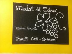 3180 - Suisse Tessin Merlot Del Ticino Selezione Levante - Etiquettes