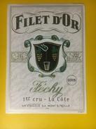 3191 - Suisse Vaud Féchy Dorin Filet D'Or - Etiquettes