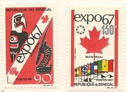 SÉNÉGAL Scott 290-291 Yvert 295-296 (2) ** 1967 Cote 4,50$ - Sénégal (1960-...)
