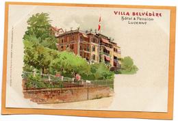 Lucerne Switzerland 1900 Postcard - LU Lucerne