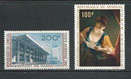 SÉNÉGAL Scott C52, C67 Yvert PA58, PA72 (2) ** Cote 7,00$ 1967-8 - Sénégal (1960-...)