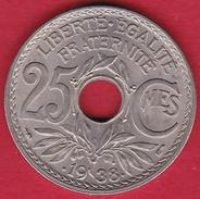 France 25 Centimes Lindauer 1938 - FDC - F. 25 Centesimi