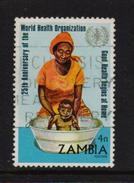 Zambia 1972, WHO, Health, Minr 111, Vfu. Cv 25 Euro - Zambia (1965-...)