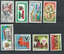 SÉNÉGAL Scott Voir Description Yvert PA80, PA85, PA96, PA110, PA111, 341, 356-7 (8) ** Cote 15,00 $ 1970-71 - Sénégal (1960-...)