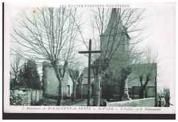 Environs De Saint Laurent De Neste  ST PAUL   L Eglise Et Le Monument - Other Municipalities