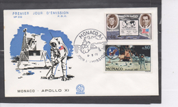 MONACO - Espace - Apollo XI - Marche Sur La Lune - Présidents KENNEDY Et NIXON - - FDC