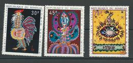 SÉNÉGAL Scott C81-C83 Yvert PA86-PA88 (3) * 1970 Cote 5,6$ - Sénégal (1960-...)