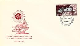 TCHÉCOSLOVAQUIE- CESKOSLOVENSKO  COVER   - V.V. TERESKOVOVA - PRAHA 1963 - Covers & Documents