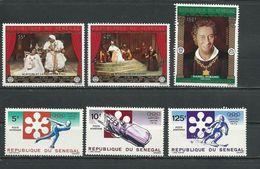 SÉNÉGAL Scott 357-358, C112, C107-C109 Yvert 361-362, PA118, PA113-PA115 (6) ** 1972 Cote 8,70$ - Sénégal (1960-...)