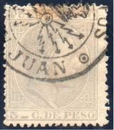 1882 PUERTO RICO. ALFONSO XII 5 CT. MATASELLOS TELÉGRAFOS. RARO. VER - Puerto Rico