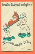 """CPA Illustrateur F LESOUR """" Le Meunier , Son Fils Et L'ane """" Semaine Nationale De L'enfance - FJC 19 - Illustrateurs & Photographes"""