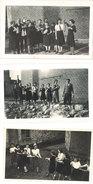3 Photos Bailleul 1942, Jeunes Femmes Se Servant Du Thé - Luoghi