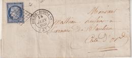 "FRANCE : N° 4 . CAD . TYPE 14 . "" BOURG - D'OISANS "" . (37 ) . 2 ème CHOIX , PLI . 1851 . LST . - Postmark Collection (Covers)"