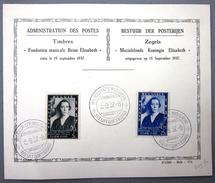 BELGIQUE               456/457  1° JOUR               OBLITERE - ....-1951
