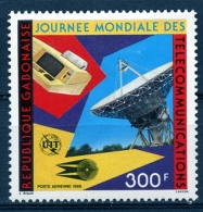 Gabon, 1986, World Telecommunication Day, ITU, United Nations, MNH, Michel 954 - Gabón (1960-...)