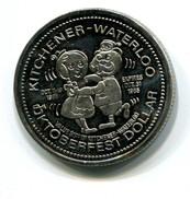 1985 KItchener-Waterloo Canada Oktoberfest $1 Token - Monetary /of Necessity