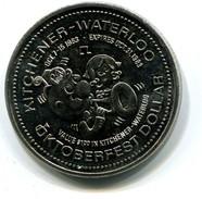 1983 KItchener-Waterloo Canada Oktoberfest $1 Token - Monetary /of Necessity