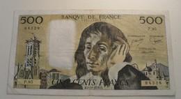 1978 - France - CINQ CENTS FRANCS, Pascal, H.5-10-1978.H. P. 95  236488328 - 1962-1997 ''Francs''