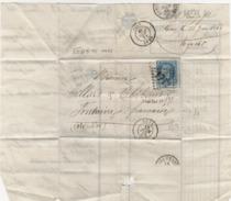 20c Empire _ Sur Facture Gray Hte Saône -le 23 Juin 1868 _ Cachet (1712 ) - France