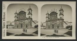 ITALIE -  FRASCATI - La Cathédrale  - PHOTO STEREOSCOPIQUE - Italia