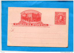 MARCOPHILIE -CHILI-carte Postale Entier Postal -rouge-Neuf  Cent LASTRA-illustration Présidence-années 1890-00 - Chile
