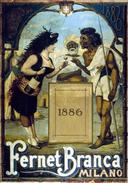 Aperitivo Fernet-Branca Milano 1886 - Postcard - Poster Reproduction (N) - Advertising