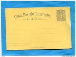 MARCOPHILIE -CHILI-carte Entier Postal COLON-jaune Neuf-impec -2 C Colon O-années 1890-00- - Chile