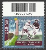 2011 - Centenario Dell'associazione Italiana Arbitri Con Codice A Barre - € 0,60 Nuovo / Mint - 6. 1946-.. Republic