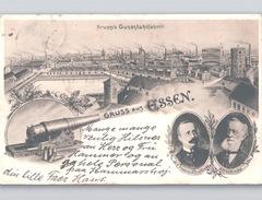KRUPP's GUSSSTAHLFABRIK Gruss Aus Essen KANON Friedrich Alfred Krupp 1906 - Essen