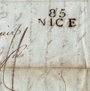 Lettre Nice Département Conquis 1809 Pour Toulouse Izaac Moyze HUILE D'OLIVE Blé Premier Empire Olive Oil Olio Di Oliva - Marcophilie (Lettres)