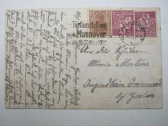 1922 , Hannover - Torfausstellung , Klarer Werbestempel Auf Karte - Briefe U. Dokumente