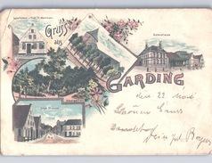 Gruss Aus Garding In Nordfriesland Farbig (Kvalitet Ansehen) 1899 - Nordfriesland