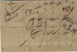 1844- Letter From Christiana To Cette ( South Of France )  C P R 4  + STROMSTADT   Framed - Norwegen