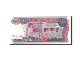 Cambodge, 100 Riels, 1974, KM:15b, SPL - Cambodia