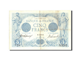 France, 5 Francs, 5 F 1912-1917 ''Bleu'', 1915, 1915-05-01, KM:70, TTB+ - 1871-1952 Circulated During XXth