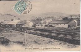 BEDARIEUX ( Hérault ) - La Gare Et Le Faubourg ( Wagon Locomotive )   PRIX FIXE - Bedarieux