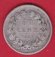 France 50 Centimes Louis Philippe 1847 A - G. 50 Centesimi