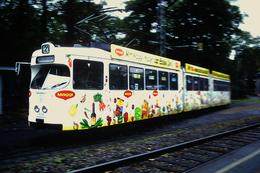 DIAPOSITIVA/SLIDE  TRAM A FRANCOFORTE 1991 Pubblicita' DADO MAGGI - Trains