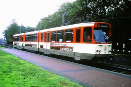 DIAPOSITIVA/SLIDE  TRAM A FRANCOFORTE 1991 Pubblicita' BOSCH LOREY - Trains