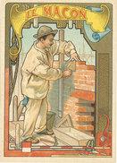 Chromo 1900, Métier, Le Maçon ( Mur, Truelle ) - Chromos