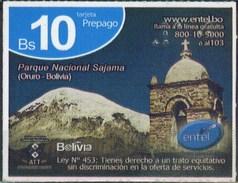 Bolivia 2017 Prepago ENTEL. Parque Nacional Sajama. Oruro. See Desc.