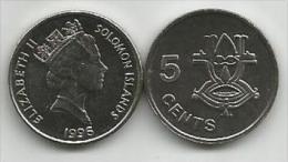 Solomon Islands 5 Cents 1996. UNC - Salomonen