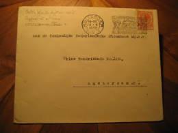 ANTI FLOOD DYKES CONST SUPPORT AT NATIONAL CRISIS COMMITTEE FIREMEN FIREMAN FIRE Rotterdam 1932 Cancel Cover Netherlands - Firemen