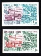 Timbres De Service, 2 Valeurs, UNESCO 73/74 **, Non Dentelés. - Officials