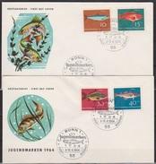 BRD FDC 1964 Nr.412  - 415 Jugend Fische ( D 3439 ) Günstige Versandkosten - BRD