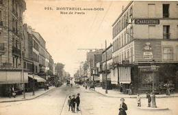 CPA - MONTREUIL-sous-BOIS (93) - Aspect De La Rue De Paris En 1918 - Montreuil