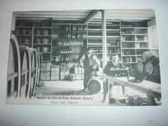 Ancienne Carte Postale Cpa Armagne Lucquy Maisons De Vins En Gros Albert Goury Caves Tonneaux Bouteilles - Non Classificati