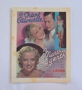 Flyer TBE Marthe Eggerth Franz Lehar Le Chant De L'alouette Cinema Actual Veldstraat Gand Gent 1936 - Pubblicitari