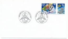 """FRANCE => Cachet Temporaire """"Dernier Jour Du Millénaire"""" - Paris - 31/12/2000 - Marcophilie (Lettres)"""