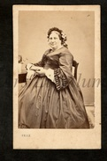 Photo-carte De Visite / CDV / Femme / Woman / 2 Scans / Photo Belle / Saint Omer - Anciennes (Av. 1900)
